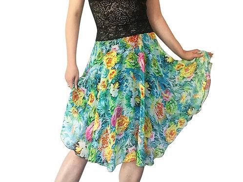 Turquoise Cezanne chiffon circle skirt