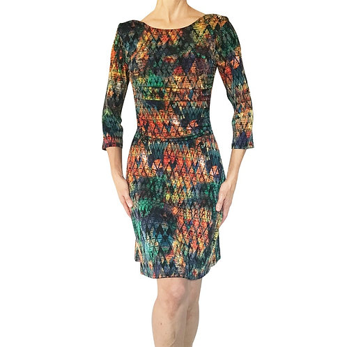 copy of 3/4 Sleeve Empire dress in Fall Bouquet
