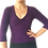 Thumbnail: Solid 3/4 sleeve Knot Top