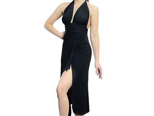 Long halter dress with Slit