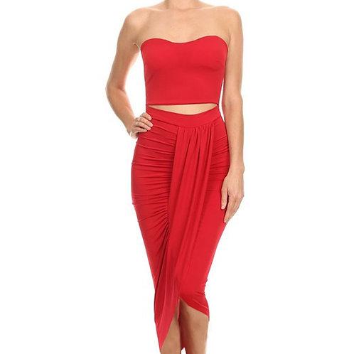Strapless Sarong dress