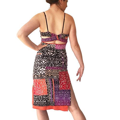 Batik Squares Cross strap dress
