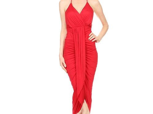 Ruched Tulip halter dress
