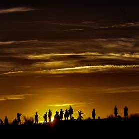 Sihouettes au coucher du soleil