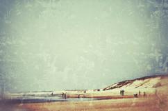 Vintage people on the beach