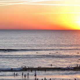 Session de surf au sunset