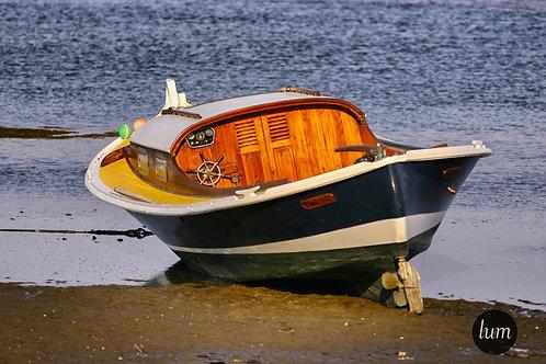 Pinasse à marée basse, Cap Ferret (Gironde)