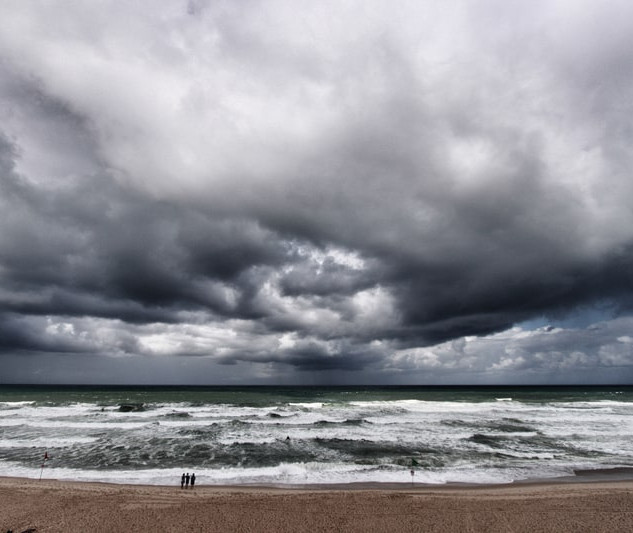 Mauvais temps sur l'océan