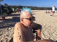 Dad, Hapuna swim race, 061816.jpg