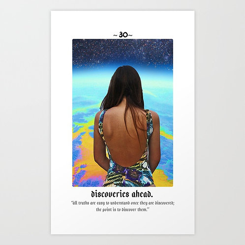 Cosmic Card Art Print