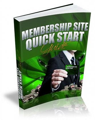 Membership Website Quick Start