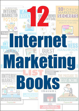12 Internet Marketing eBooks With Master Resell Rights