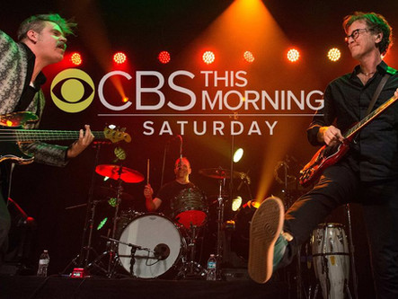 Brad Gordon plays with SEMISONIC on CBS Saturday Morning Sessions