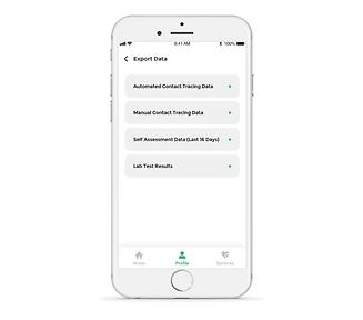 Public health reporting app