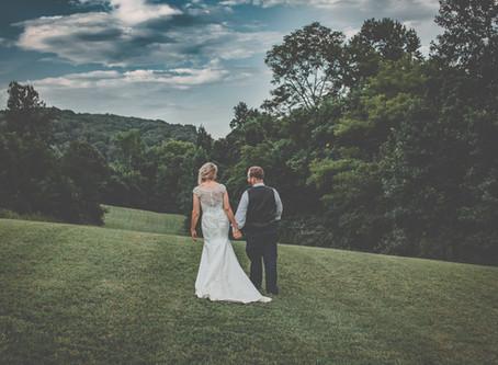 Marcus & Kate -                                        Barn at Back Creek Farm Wedding