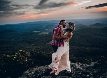 Wes & Christina - Sunset on the Mountain