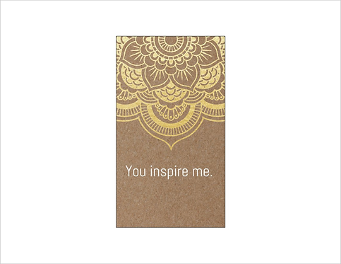 Bee Positive Card: INSPIRE