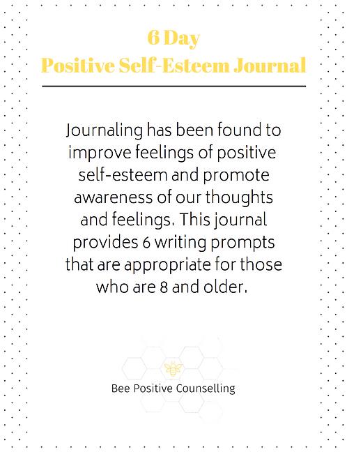Printable PDF: Self Esteem Journal