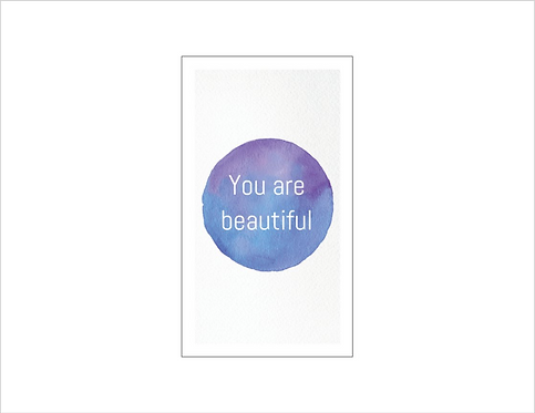 Bee Positive Card: BEAUTIFUL