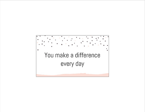 Bee Positive Card: DIFFERENCE