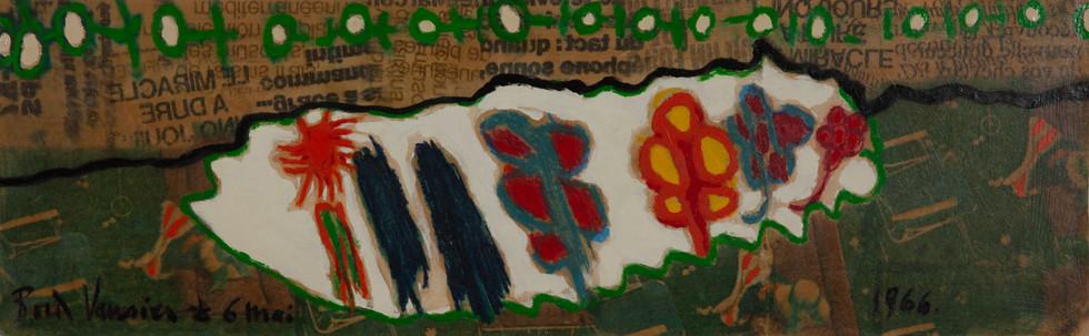Famille en fleurs / Peinture verte