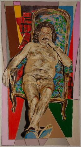 Nu de Pierre Restany, Critique d'art à Paris, pas Balzac, Restany
