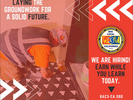 Be a part of something bigger. Join BAC Local 3.