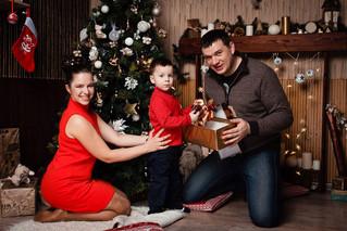 Новогодняя фотосессия для Кати, Антона и Ромы