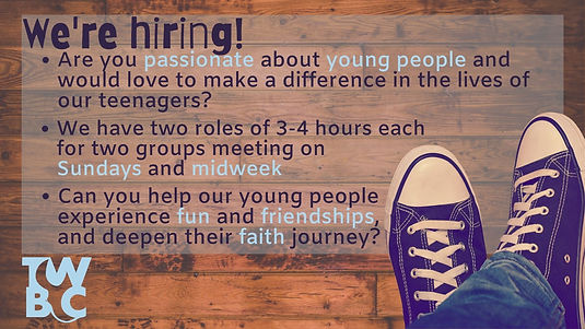 website PPT Youth Worker job advert 2021