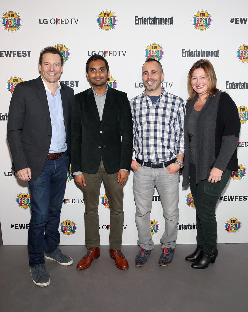 Rich Battista, Aziz Ansari, Henry Goldblatt and Ellie Duque