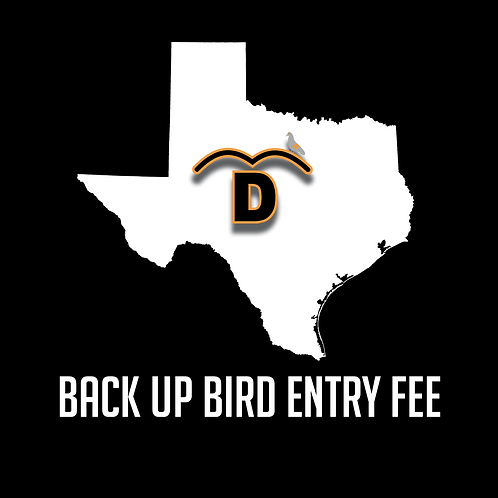 Back Up Bird Event Entry Fee