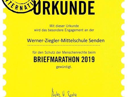 Briefmarathon 2019