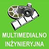 klasa multimedialno-inżynieryjna, rysunki taśmy filmowej i aparatu fotograficznego na zielonym tle