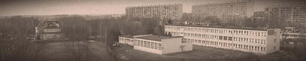 zdjęcie szkoły na tle osiedla