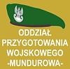 klasa mundurowa, zielony beret wojskowy na beżowozielonym tle