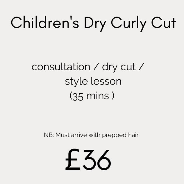Children's Dry Curly Cut