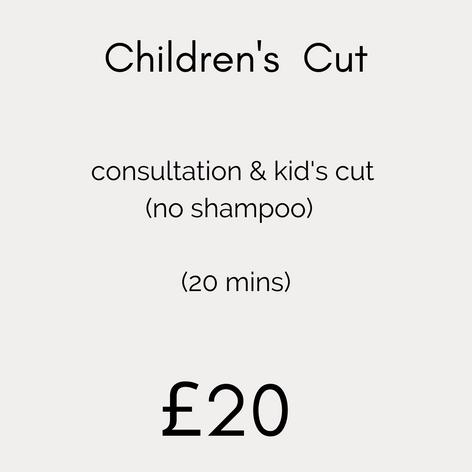 Children's Cut