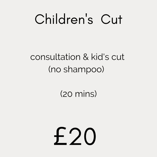 Children's Cut