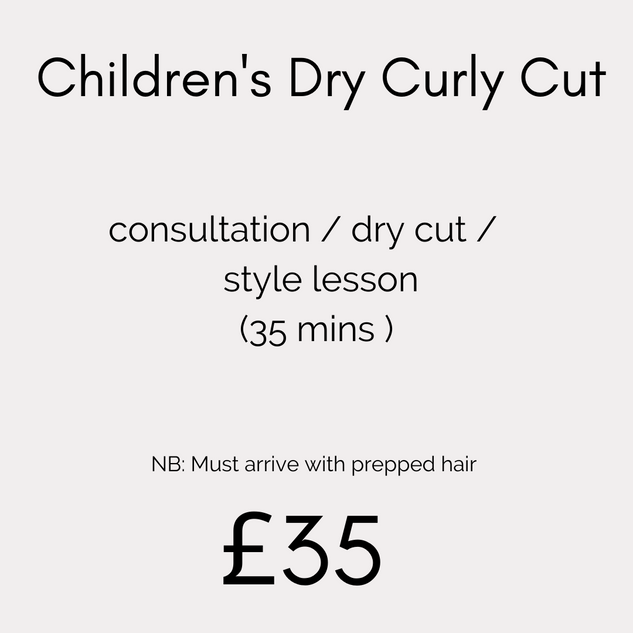 Children's Dry Curly Cut