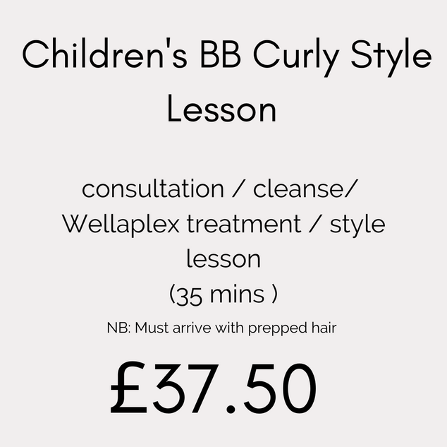 Children's BB Curly Style Lesson