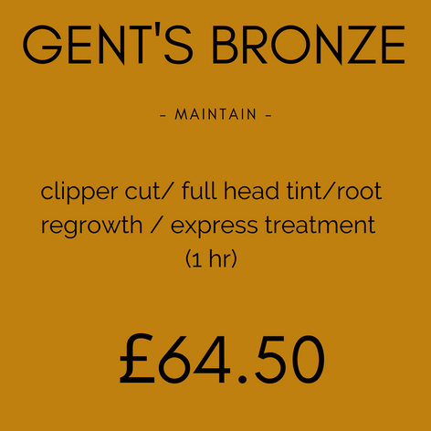 Gent's Bronze Colour Package