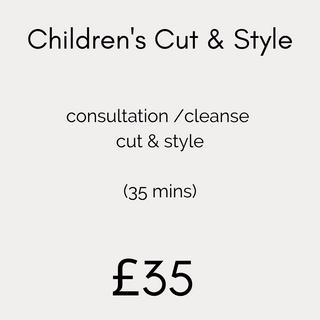 Children's Cut & Style