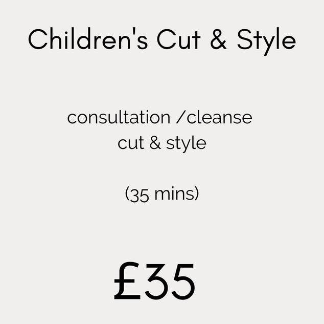 Children's Cut & Style