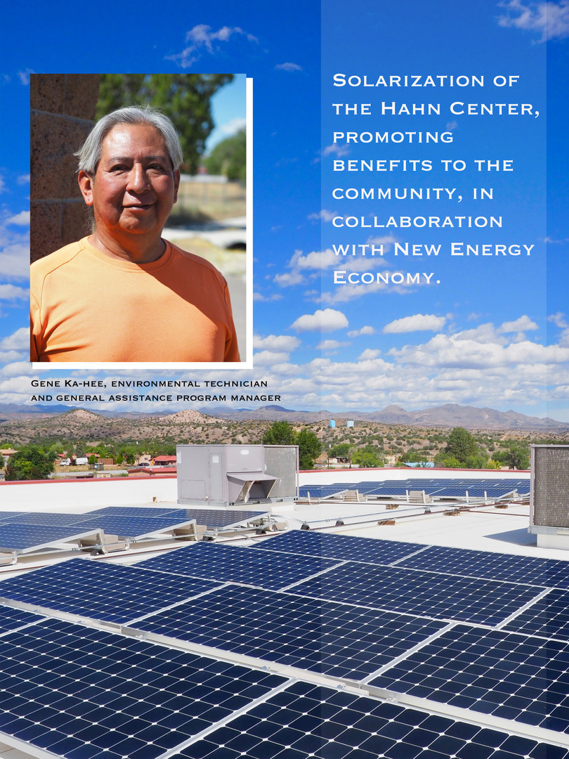 Solar on Pueblo of Cochiti's Hahn Recreational Center funded by Remy's Good Day Fund