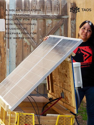 UNM Taos mobile solar project funded by Remy's Good Day Fund