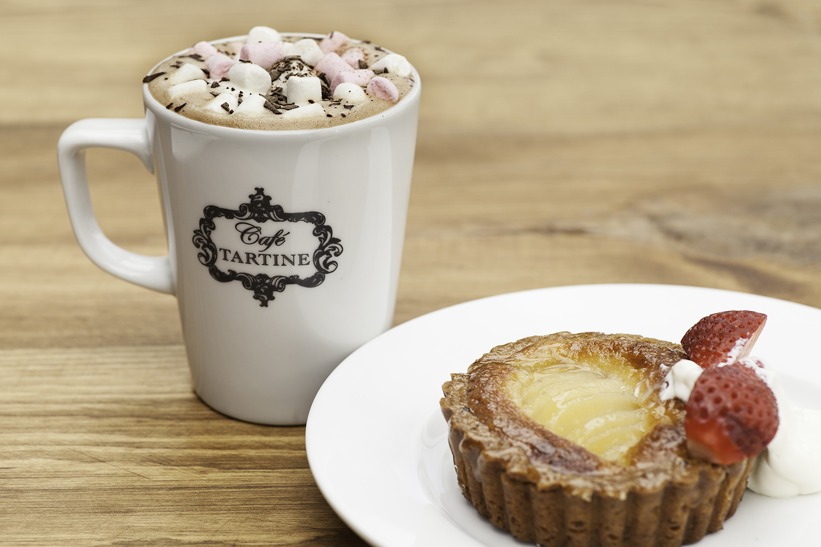 Hot Chocolate & Fruit Tartlet