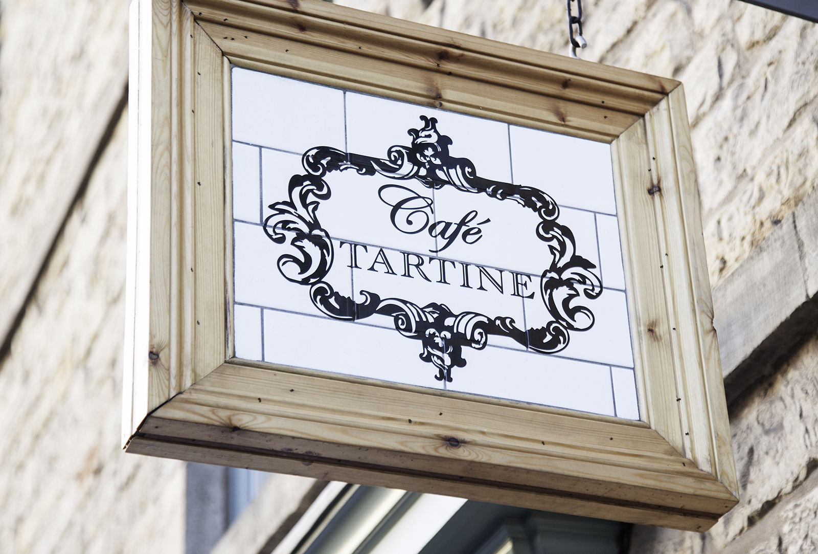 Cafe Tartine Hanging Sign