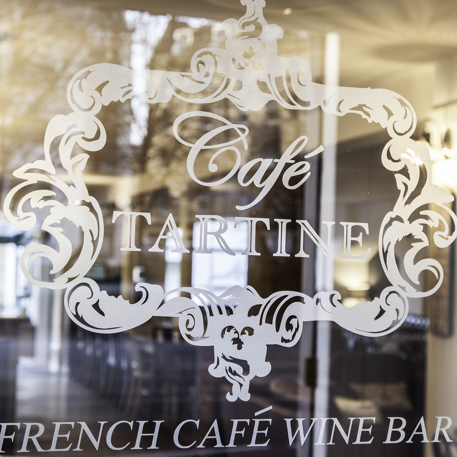 Cafe Tartine Window Signage