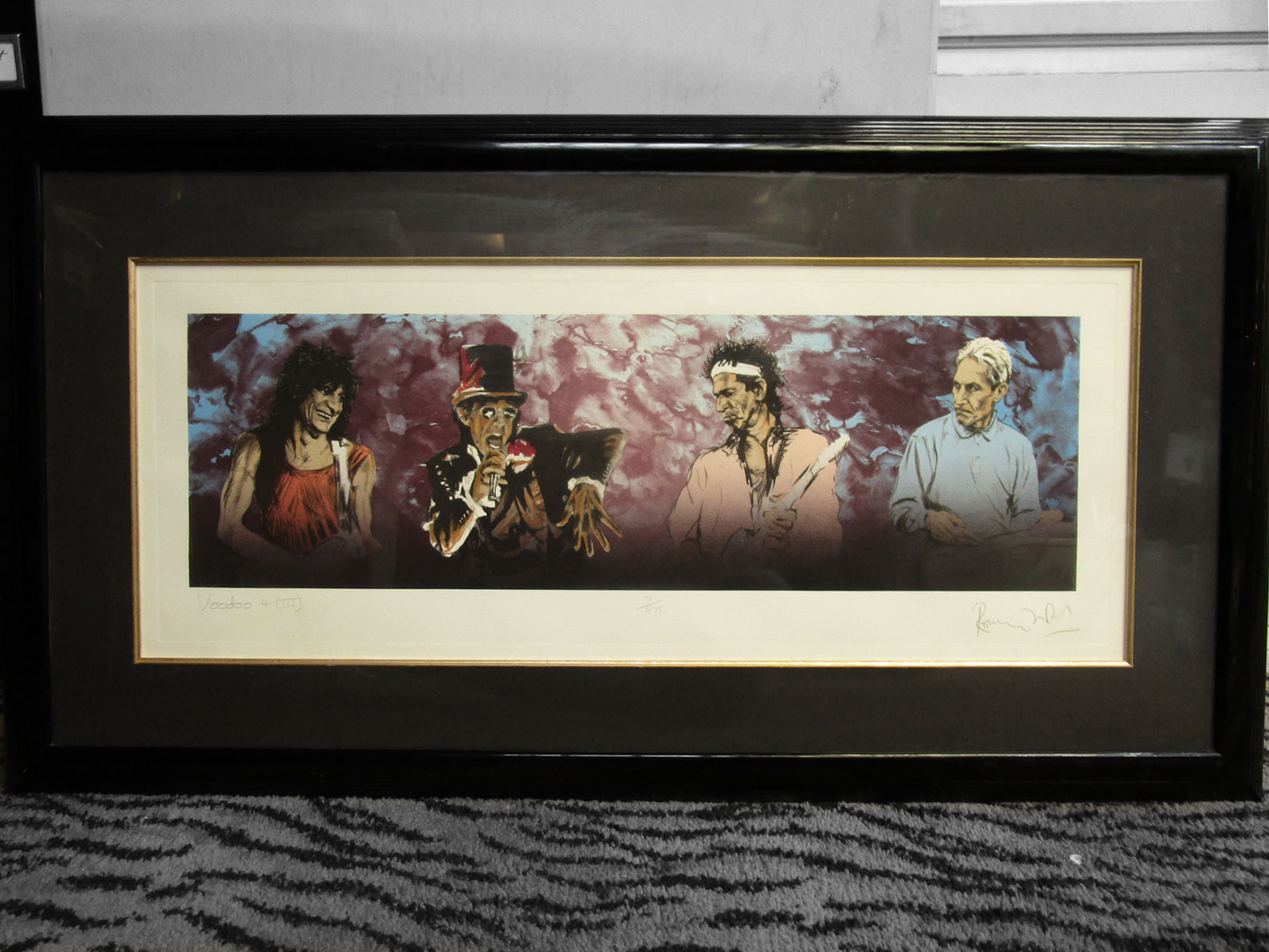 Ronnie Wood, Signed Litho - $5000