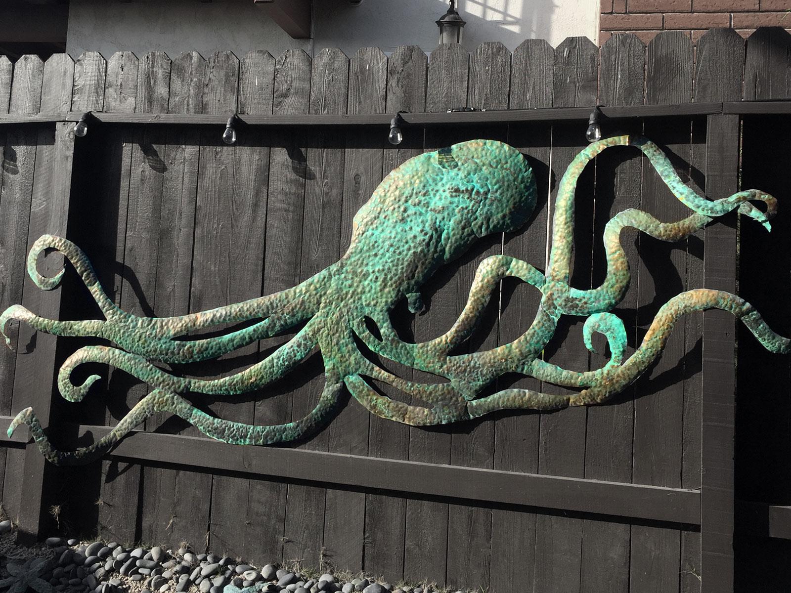 Octopus Metal Sculpture